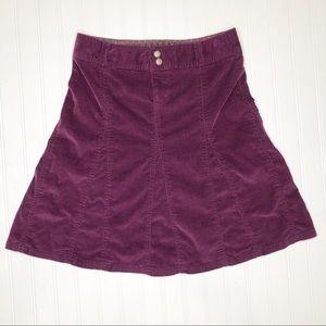 Athleta purple corduroy flare skirt. 4 Tall